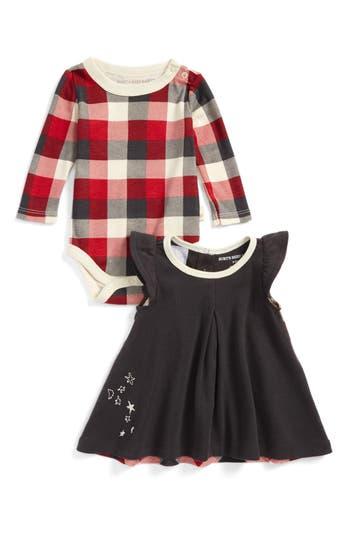 Infant Girls BurtS Bees Baby Organic Cotton Dress  Bodysuit Set