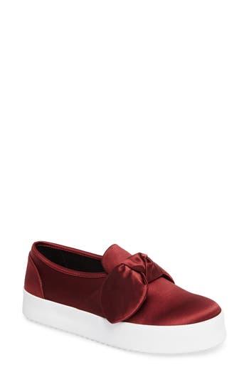 Rebecca Minkoff Stacey Bow Platform Sneaker, Burgundy