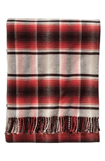 Pendleton Board Shirt Plaid Throw, Size One Size - Red