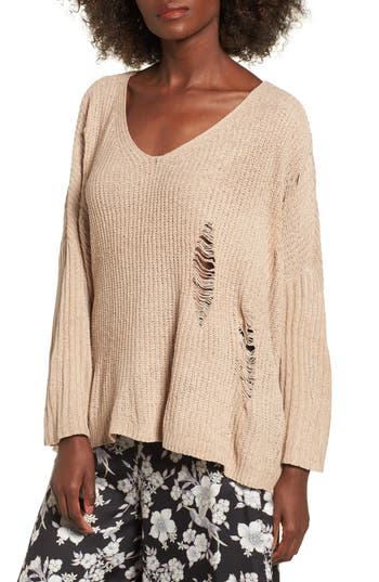 Women's Lost + Wander Lily Rose Distressed Sweater at NORDSTROM.com