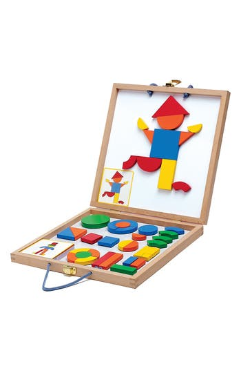 Djeco Wooden Magnetics Geoform Play Set
