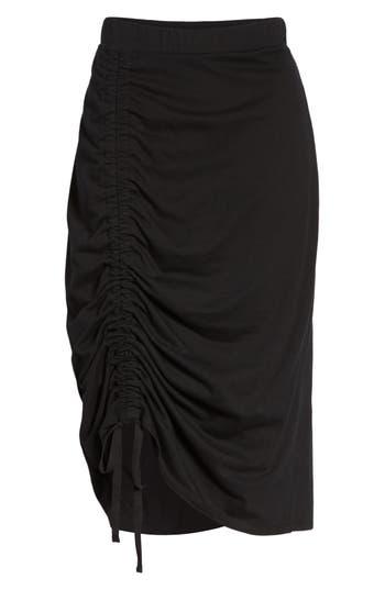 Caslon Drawstring Cinched Pencil Skirt, Black
