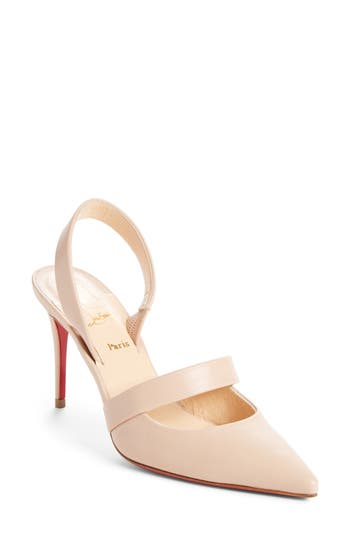 Christian Louboutin Actina Slingback Pointy Toe Pump - Beige