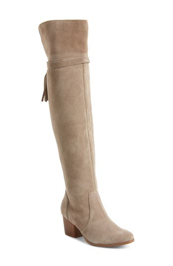 Sole Society Erika Over The Knee Boot, Grey