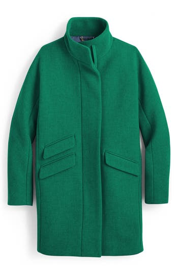 Women's J.crew Stadium Cloth Cocoon Coat, Size 0 - Green