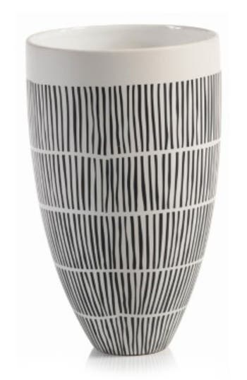 Zodax Marquesa Ceramic Vase, Size One Size - White