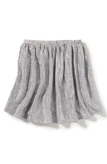 Girl's Peek Marlow Metallic Skirt, Size S (4-5) - Metallic