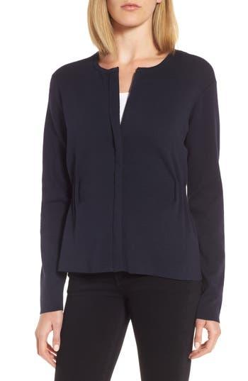 Women's Emerson Rose Peplum Zip Sweater, Size Medium - Blue