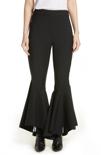 Ellery Sinuous Crop Flare Pants, US / 4 AU - Black