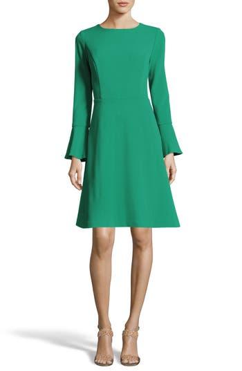 Eci Fit & Flare Dress, Green