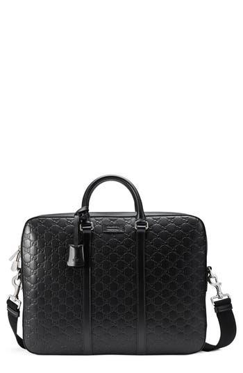 Gucci Signature Leather Briefcase -