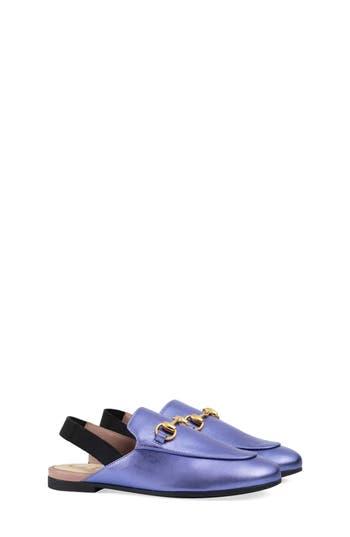 Girls Gucci Princetown Loafer Mule Size 1US  32EU  Purple
