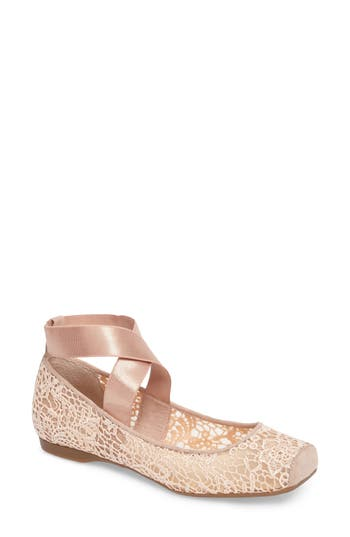 Jessica Simpson Maggda Cross Strap Flat- Pink