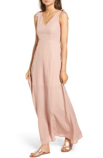 Dee Elly Tie Strap Maxi Dress, Pink