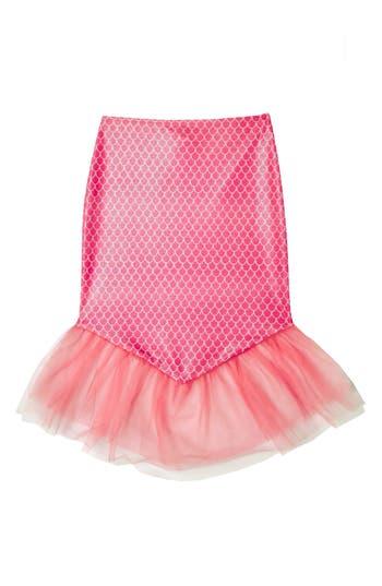 Girl's Hula Star Mermaid Princess Cover-Up Skirt, Size L (6-6x) - Pink