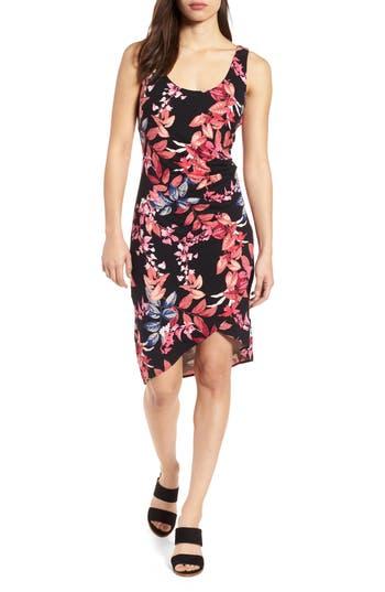 Women's Tommy Bahama Michael Frondi Faux Wrap Dress, Size X-Small - Black