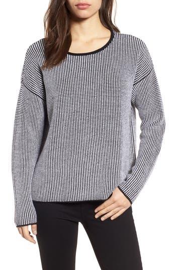 Eileen Fisher Textured Merino Wool Sweater, White