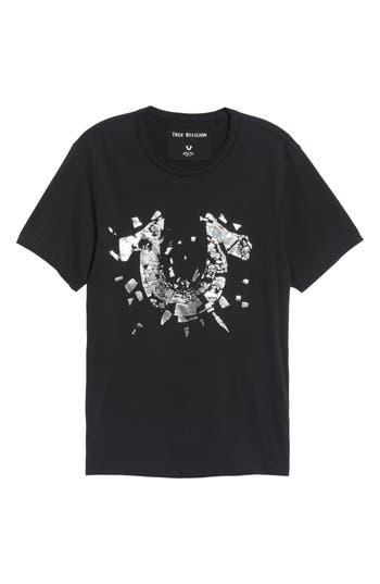 True Religion Brand Jeans Metallic Logo T-Shirt, Black