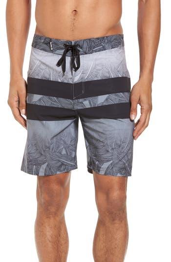 Hurley Phantom Blackball Lush Board Shorts, Black