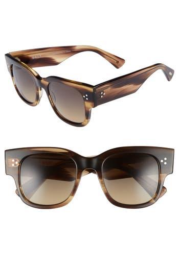 Salt Tavita 50Mm Polarized Square Sunglasses - Hazy Taupe