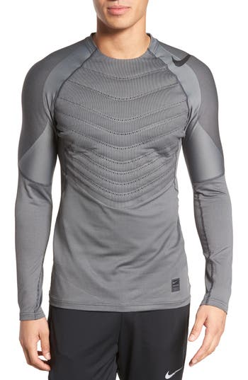 Nike Pro Aeroloft Long Sleeve Fitted T-Shirt, Black