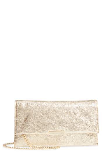 Loeffler Randall Metallic Leather Tab Clutch - Metallic