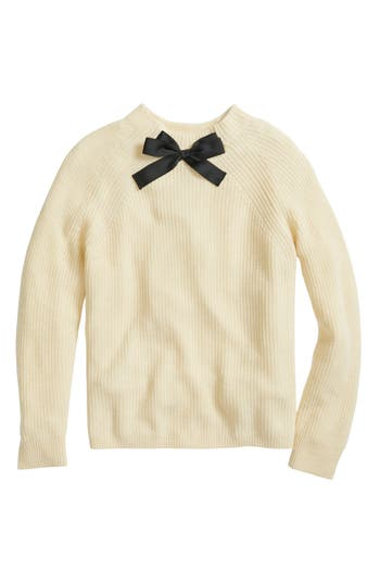 Women's J.crew Gayle Tie Neck Sweater, Size Small - Ivory