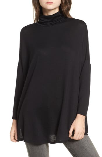 Women's Soprano Mock Neck Tunic, Size X-Small - Black