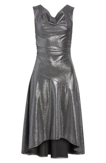 Tracy Reese Draped High/low Dress, Metallic