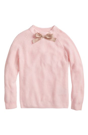 Women's J.crew Gayle Tie Neck Sweater, Size Small - Pink