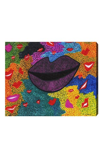 Oliver Gal Laughter Canvas Wall Art, Size 30x36 - White