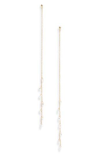 Women's Panacea Linear Chain & Crystal Earrings