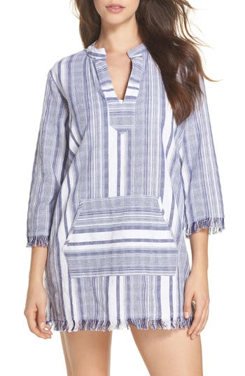 Women's Tommy Bahama Yarn Dye Stripe Cover-Up Tunic, Size X-Small - White