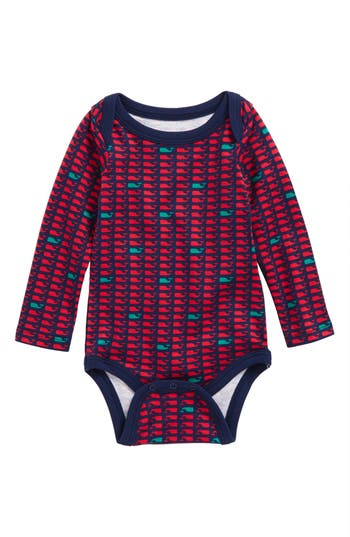 Infant Girls Vineyard Vines Holiday Whale Bodysuit