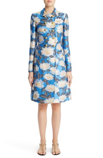 Women's Dolce & gabbana Floral Brocade Coat