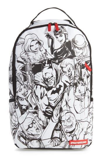Men's Sprayground Batman Diy Villains Backpack - White