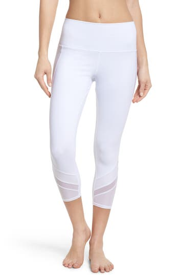 Alo Elevate High Waist Capri Leggings, White
