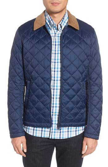 Barbour Helm Quilted Jacket, Blue