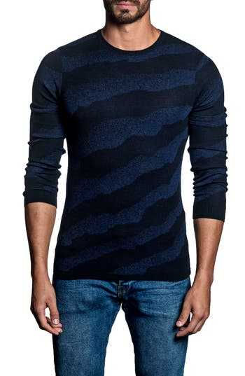 Men's Jared Lang Slim Fit Stripe Sweater, Size Small - Blue