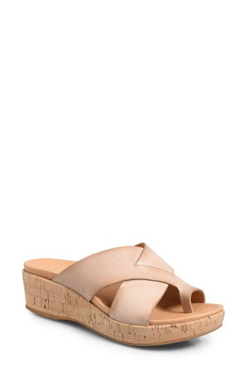 Kork-Ease Baja Wedge Slide Sandal, Beige