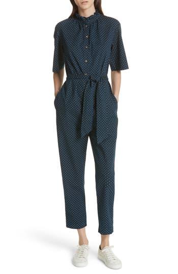 Women's La Vie Rebecca Taylor Dahlia Dot Jumpsuit, Size X-Small - Blue