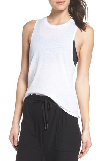 Beyond Yoga Twist It Up Tank, White