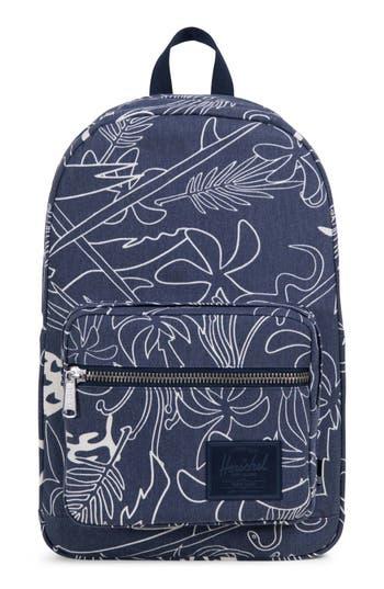 Herschel Supply Co. Pop Quiz Print Canvas Backpack - Blue