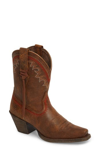 Ariat Round Up Western Boot- Brown