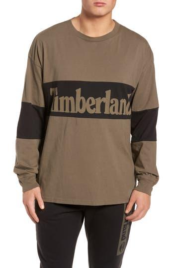 Timberland Logo Graphic T-Shirt, Brown