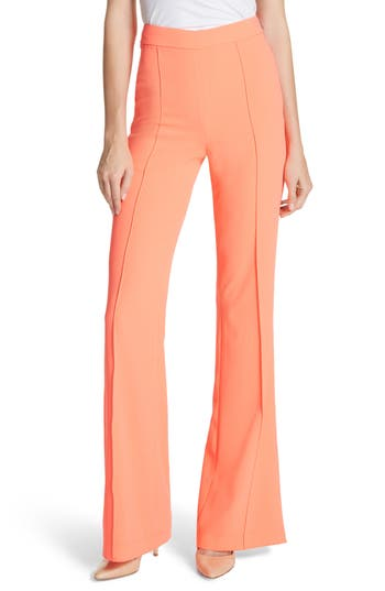 Women's Alice + Olivia Jalisa High Waist Flared Leg Pants, Size 4 - Orange
