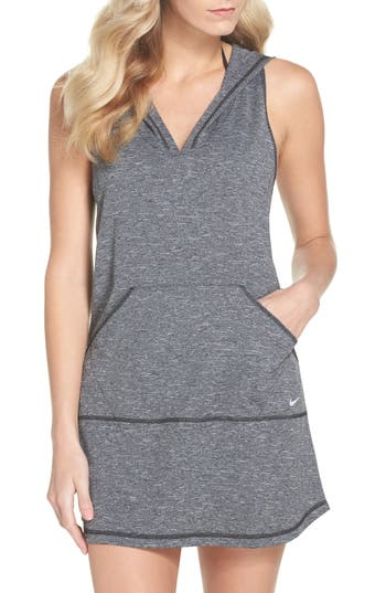 Nike Hooded Cover-Up Dress, Black
