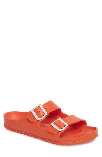 Men's Birkenstock 'Essentials - Arizona Eva' Waterproof Slide Sandal, Size 8-8.5US / 41EU D - Coral