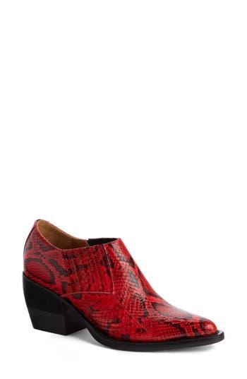 Chloe Rylee Western Boot, Red