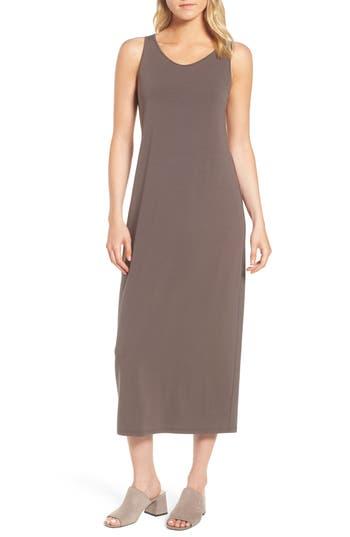Eileen Fisher Scoop Neck Jersey Midi Dress, Grey